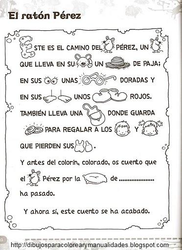 Recursos para Primaria e Infantil: Ratón Perez para colorear