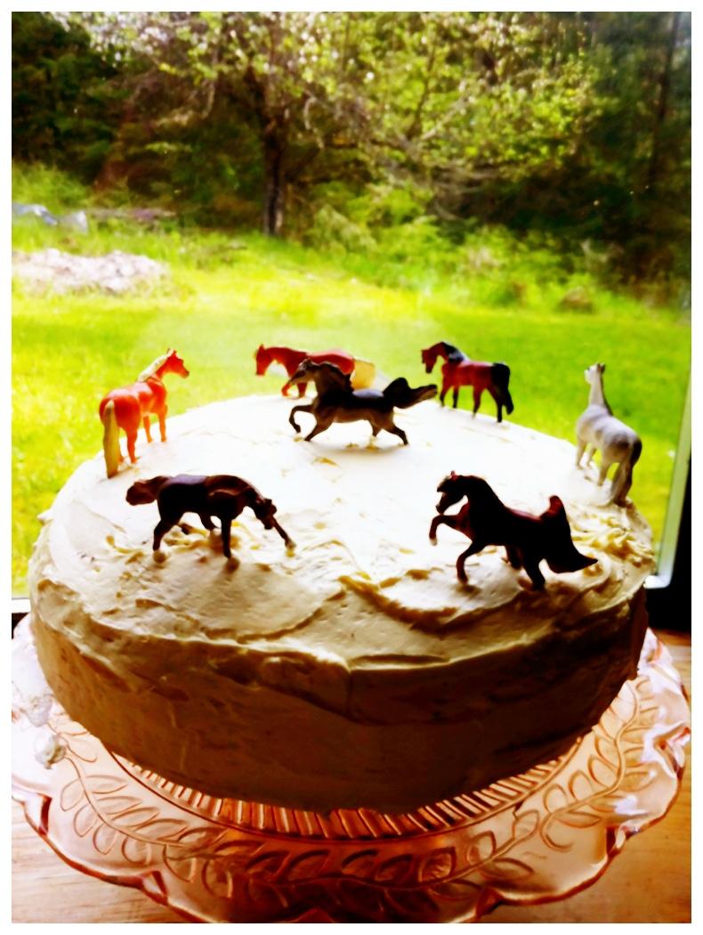 Cake Decorating Ideas Horses : The Plumed Nest: Horse Cake: Easy Cake Decoration Idea!