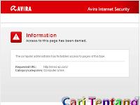 Cara Membuka Situs yang Diblokir Avira Internet Security