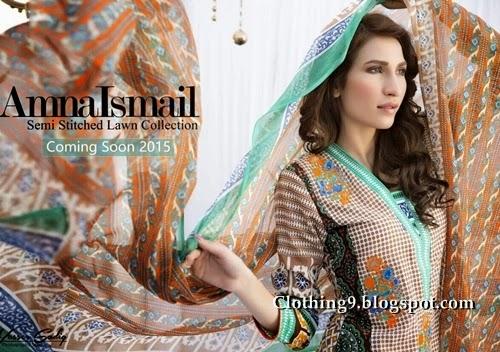 Amna Ismail lawn 2015 magazine
