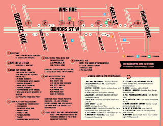Toronto Junction BIA Summer Solstice Festival Map and Directions