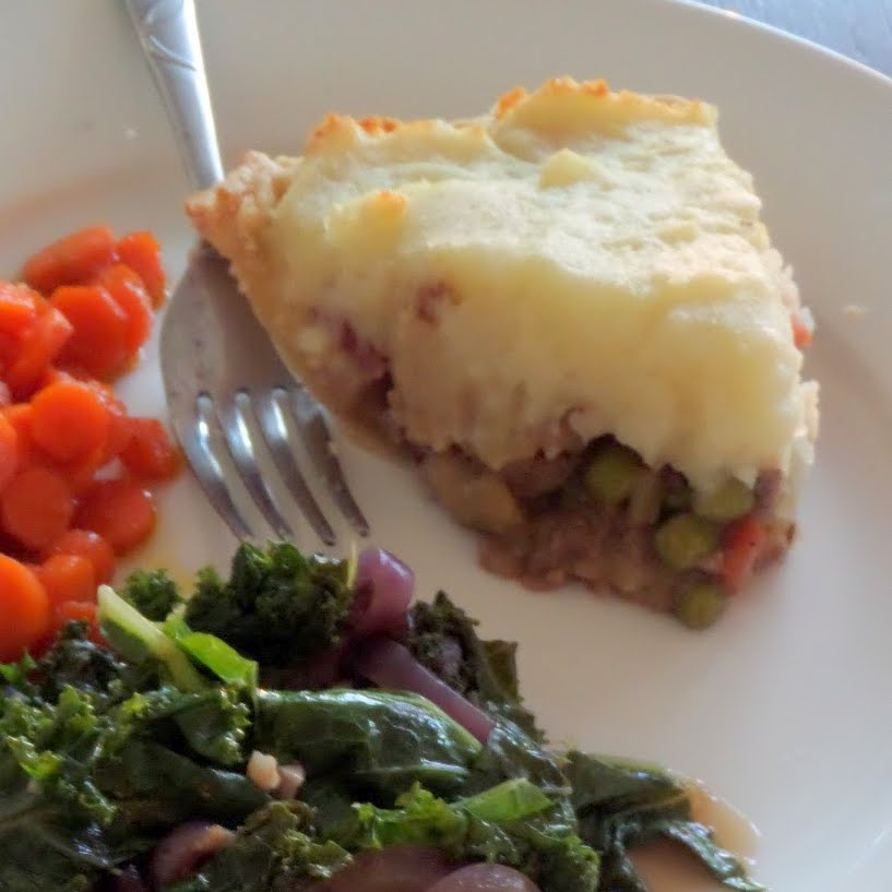Lamb & Guinness Shepherd's Pie:  Minced lamb and vegetables cooked in a Guinness sauce and topped with mashed potatoes.  Perfect for a St. Patrick's Day dinner.