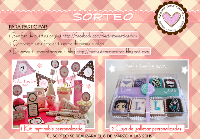 Sorteo galletas kit imprimible