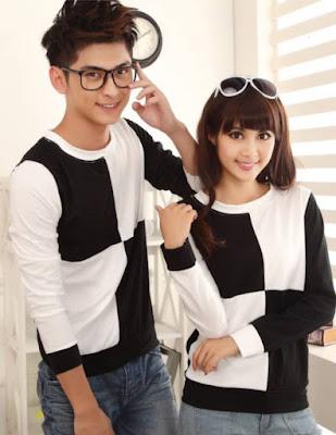 Model Baju Couple Korean Lengan Panjang Murah