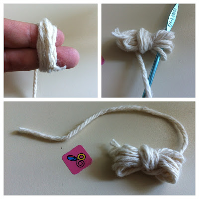 Green Ideas - Make a cotton ball with yarn scraps