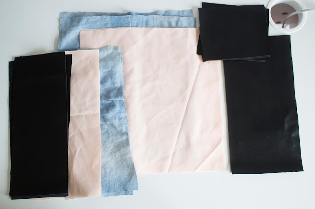 fabric pieces for backpack