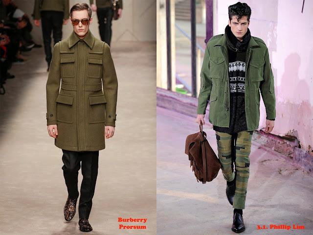 Tendencia otoño_invierno 2013-14 chaqueta de inspiración militar: Burberrry Prorsum y 3.1. Phillips Lim