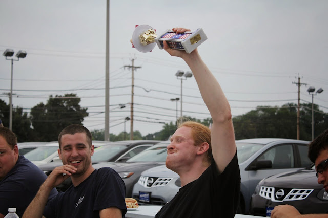 Rochester Hot Dog Eating Contest Winner at Hoselton Auto Mall! Courtesy of Zweigles