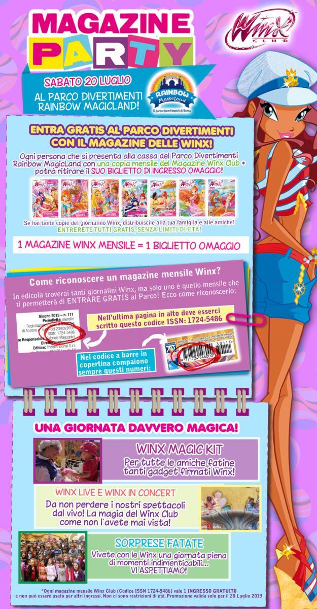 ¡¡20 de Julio Winx Club Magazine Party en Rainbow MagicLand!! 20-luglio-magazine_party-interna1