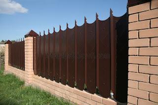 Забор из фигурного профлиста (резная кромка). Фото 6