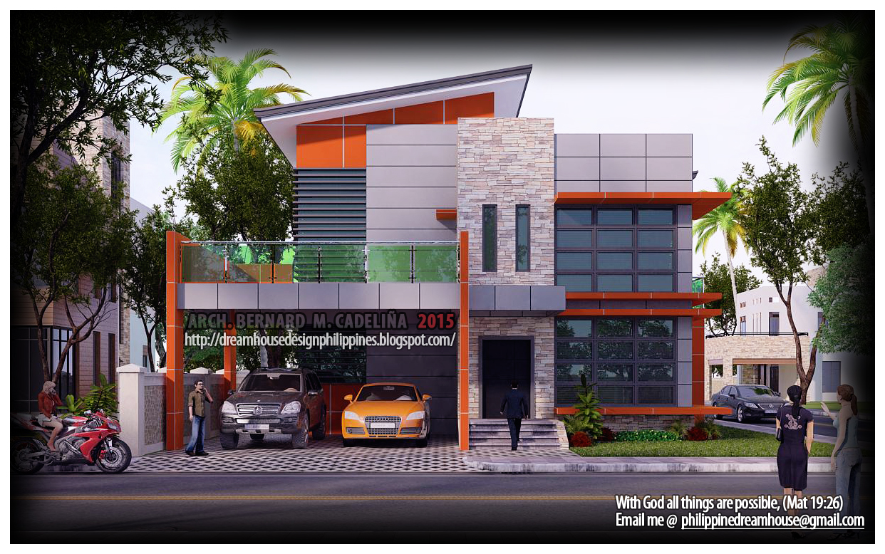 Philippine dream house design four bedroom two storey house for Two storey house design philippines