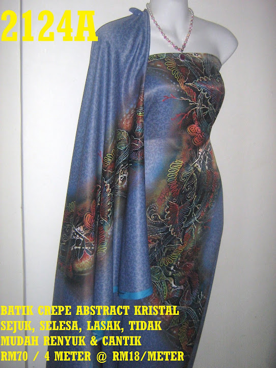 2124A: BATIK CREPE ABSTRACT KRISTAL,  4 METER