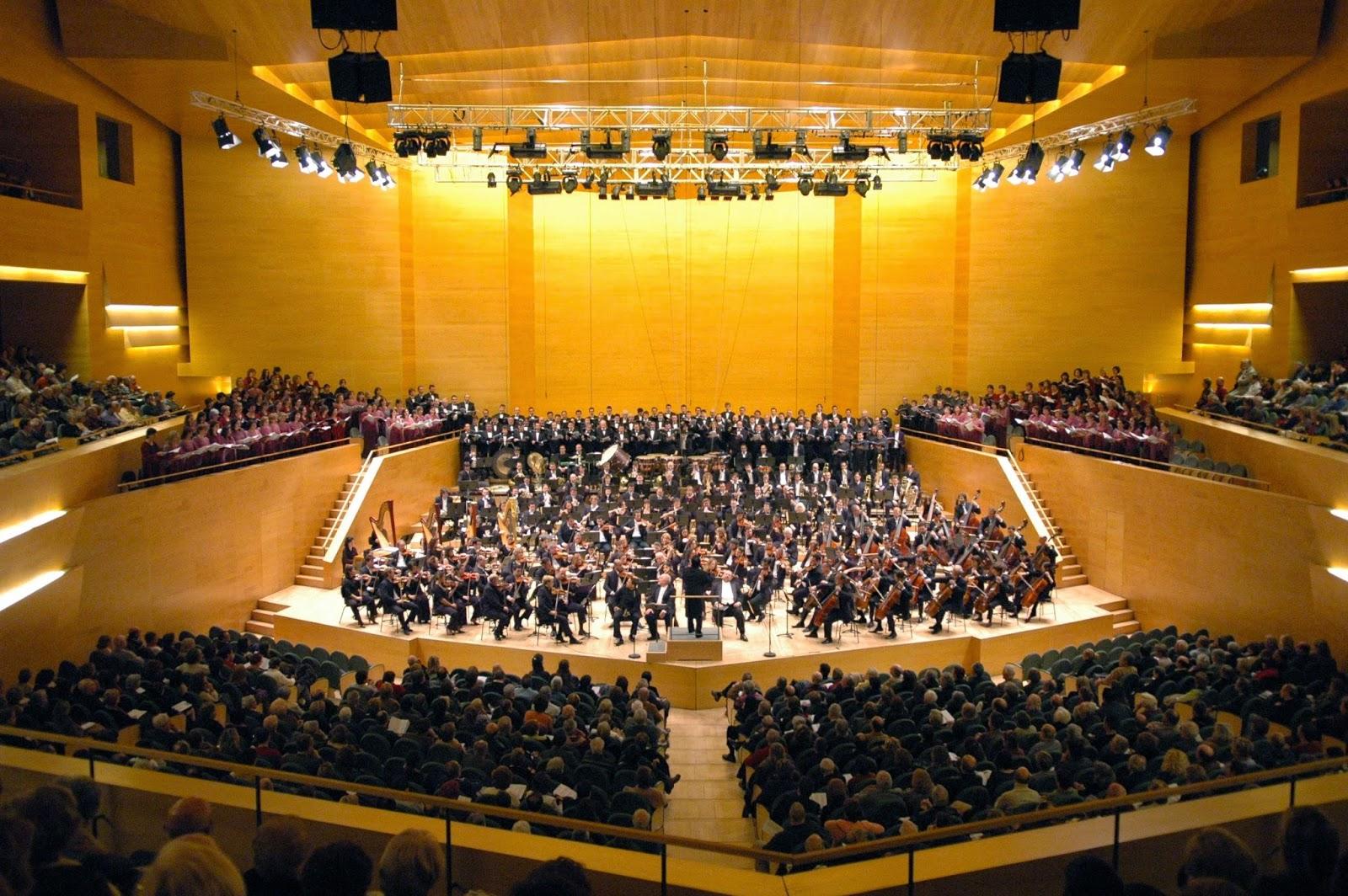 Концертный за Каталонии, Барселона, Испания. L'Auditori, Barcelona, Catalonia, Spain