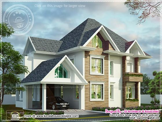 European model house in Kerala