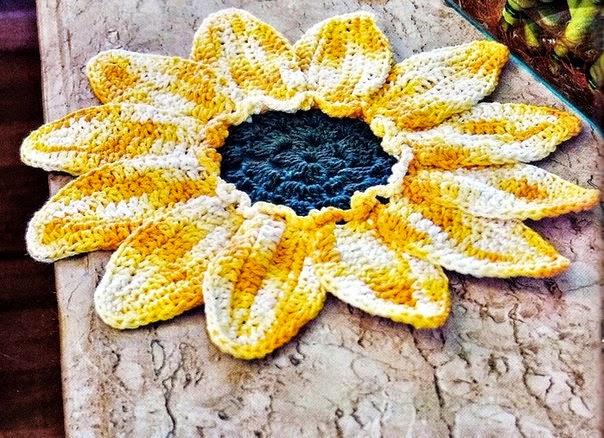 tutorial diagrama alfombra girasol tejida al crochet