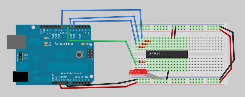 Using an arduino as a pic programmer