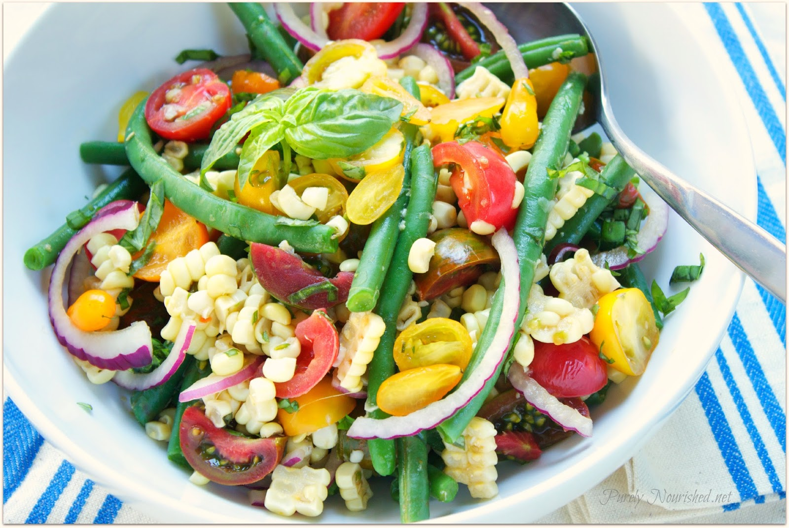 Purely Nourished: Corn, Tomato and Green Bean Salad