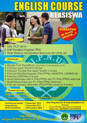 Beasiswa Kursus Bahasa Inggris (IPNU)