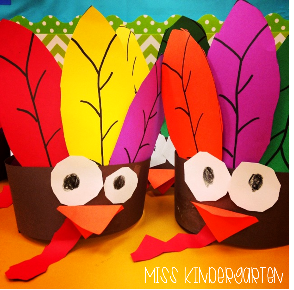 Black headbands for crafts - Gobble Gobble Turkey Headbands