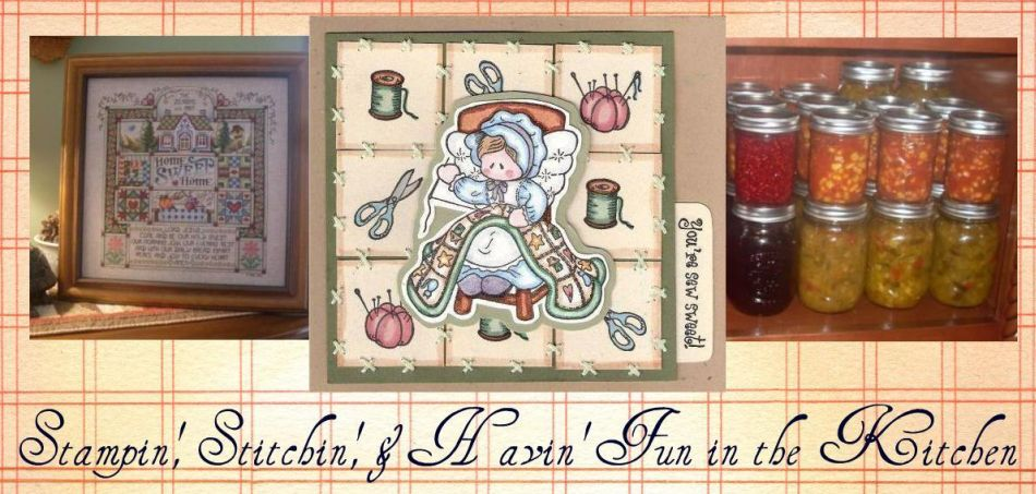 Stampin', Stitchin', & Havin' Fun in the Kitchen.