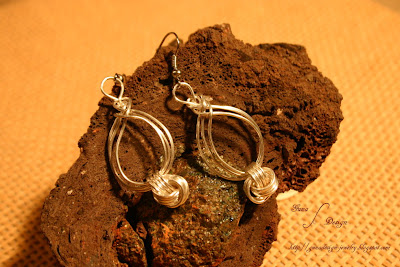 Celtic Pipa Wire Knot Earrings with Danish love knot by Gunadesign