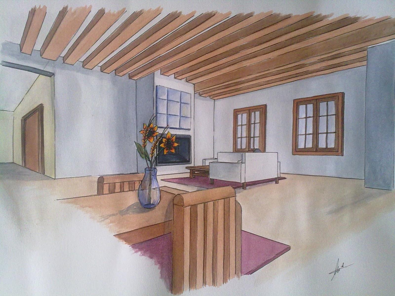 Perspectivas de mi primer dise o de interior elisabeth 39 s for Diseno de interiores dibujos