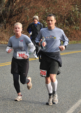 My Daughter and me running Lake Samish 1/2 Marathon 2011