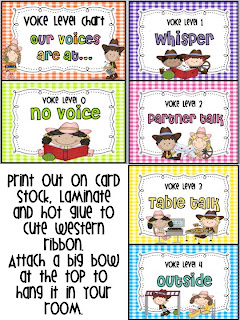 photograph relating to Voice Level Chart Printable referred to as KINDERWORLD: Western Concept Clroom