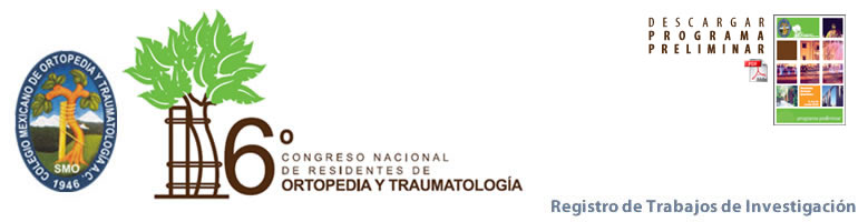Colegio mexicano de ortopedia y traumatolog a reducci n for W de porter ortopedia