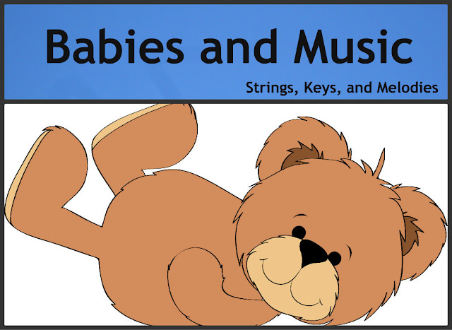 Babies and Music Strings, Keys and Melodies photo