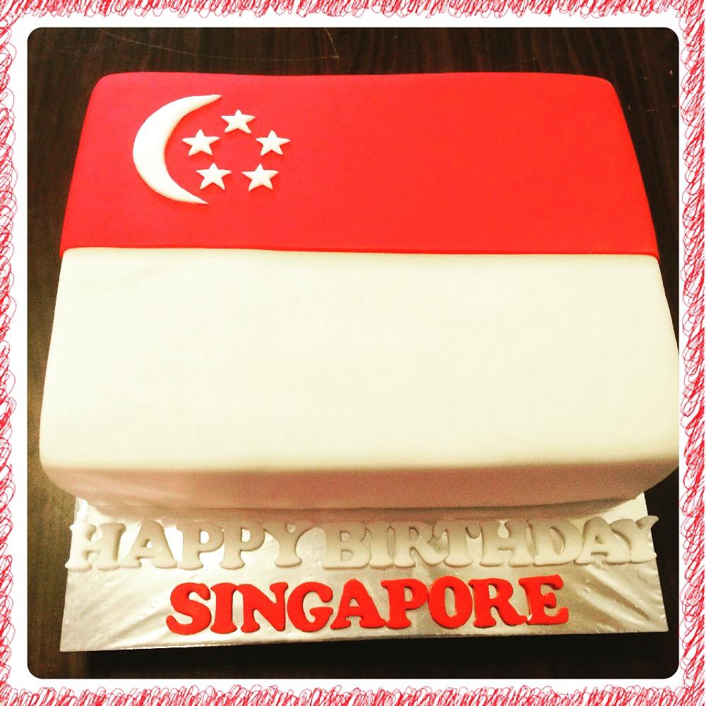 Singapore Flag Cake Crissas Cake Corner