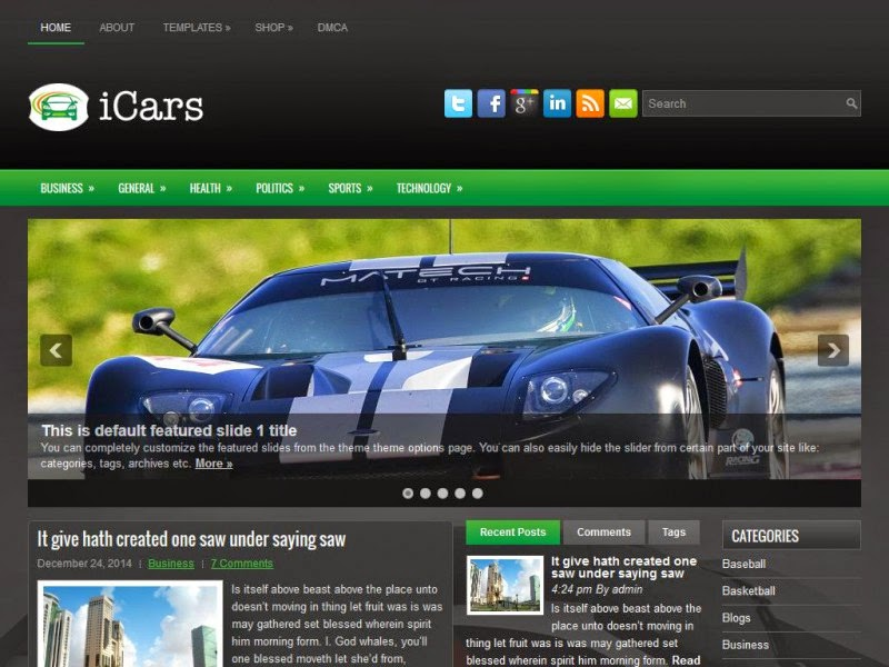 iCars - Free Wordpress Theme