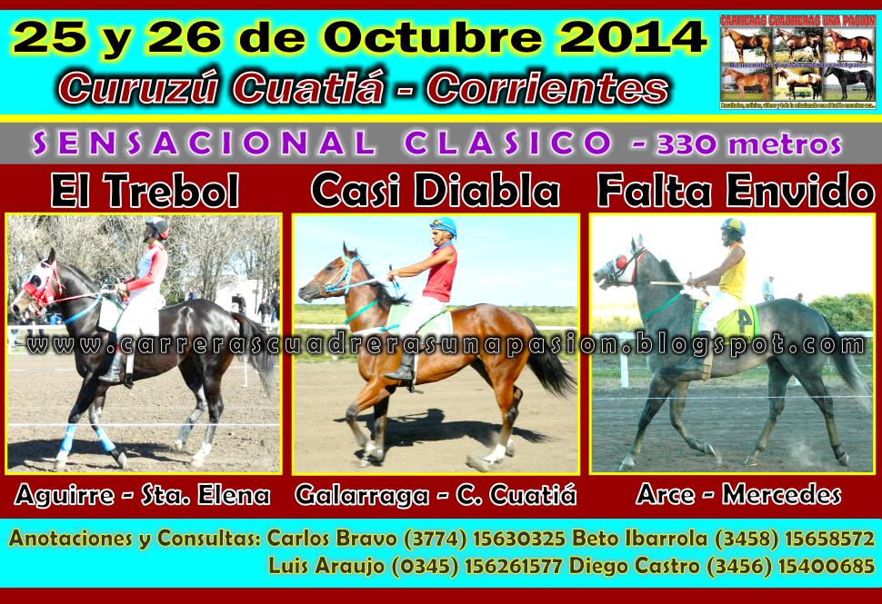 C. CUATIA - 25 y 26 de Oct. - CLASICO 330