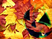 Autumn Halloween October Button