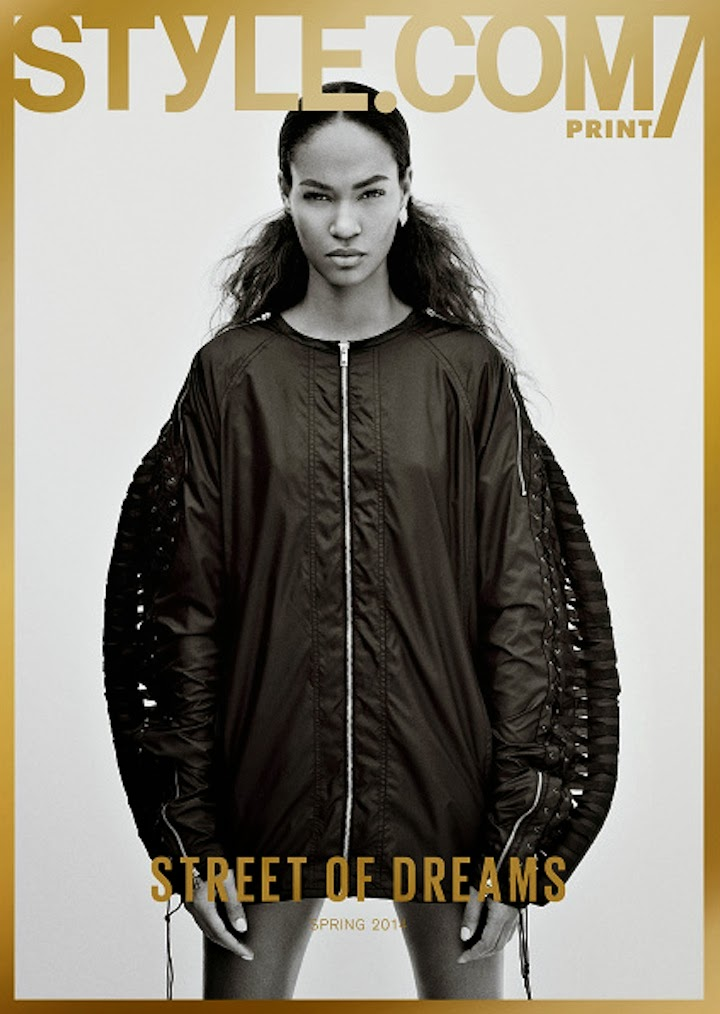 JOAN SMALLS IN HOOD BY AIR FOR STYLE.COM PRINT FALL 2013