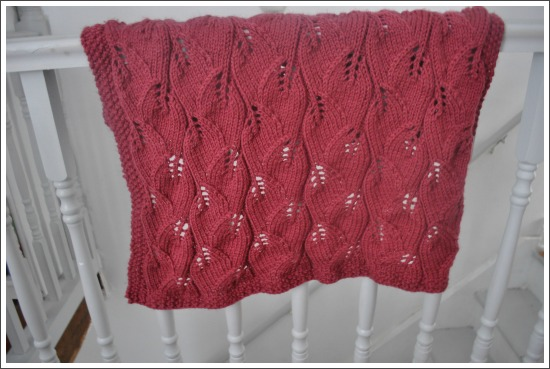 Sparrows And Arrows Knitting Leaf Baby Blanket