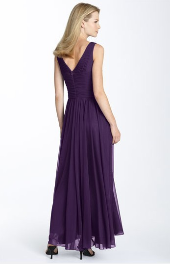 Alex+Evenings+Ruched+Mesh+Gown