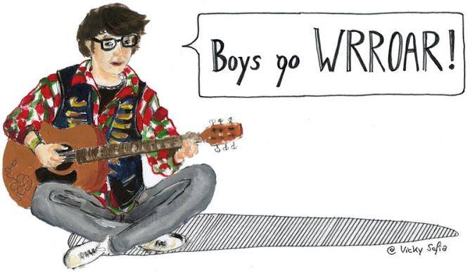 boys go WRROAR.