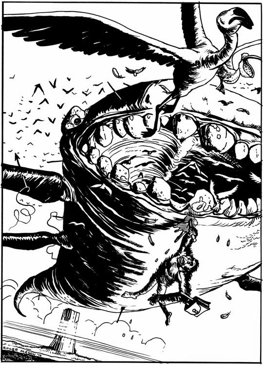 Illustration by Roger Mason for Eye of Zoltar book
