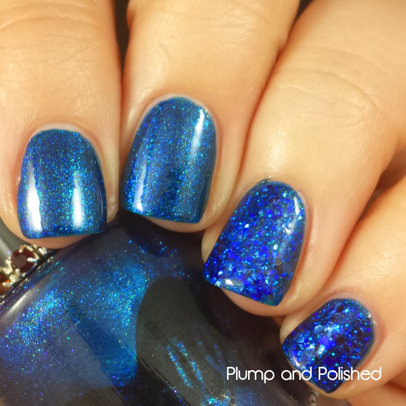 ellagee - Sparkling Gemstones: Glimmering Sapphire and Crushed Sapphire