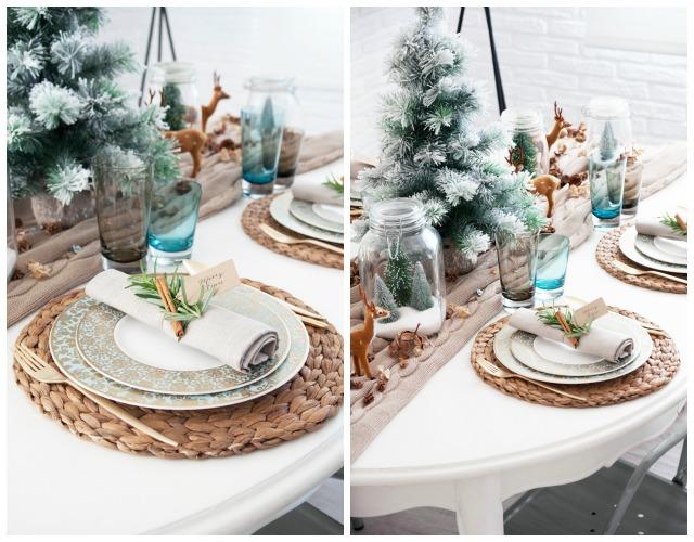 Decoraci n f cil 7 mesas de navidad estilo natural - Caminos de mesa ikea ...