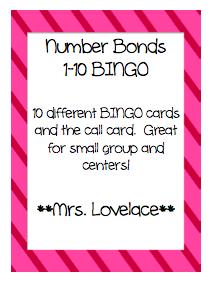 Number Bonds BINGO
