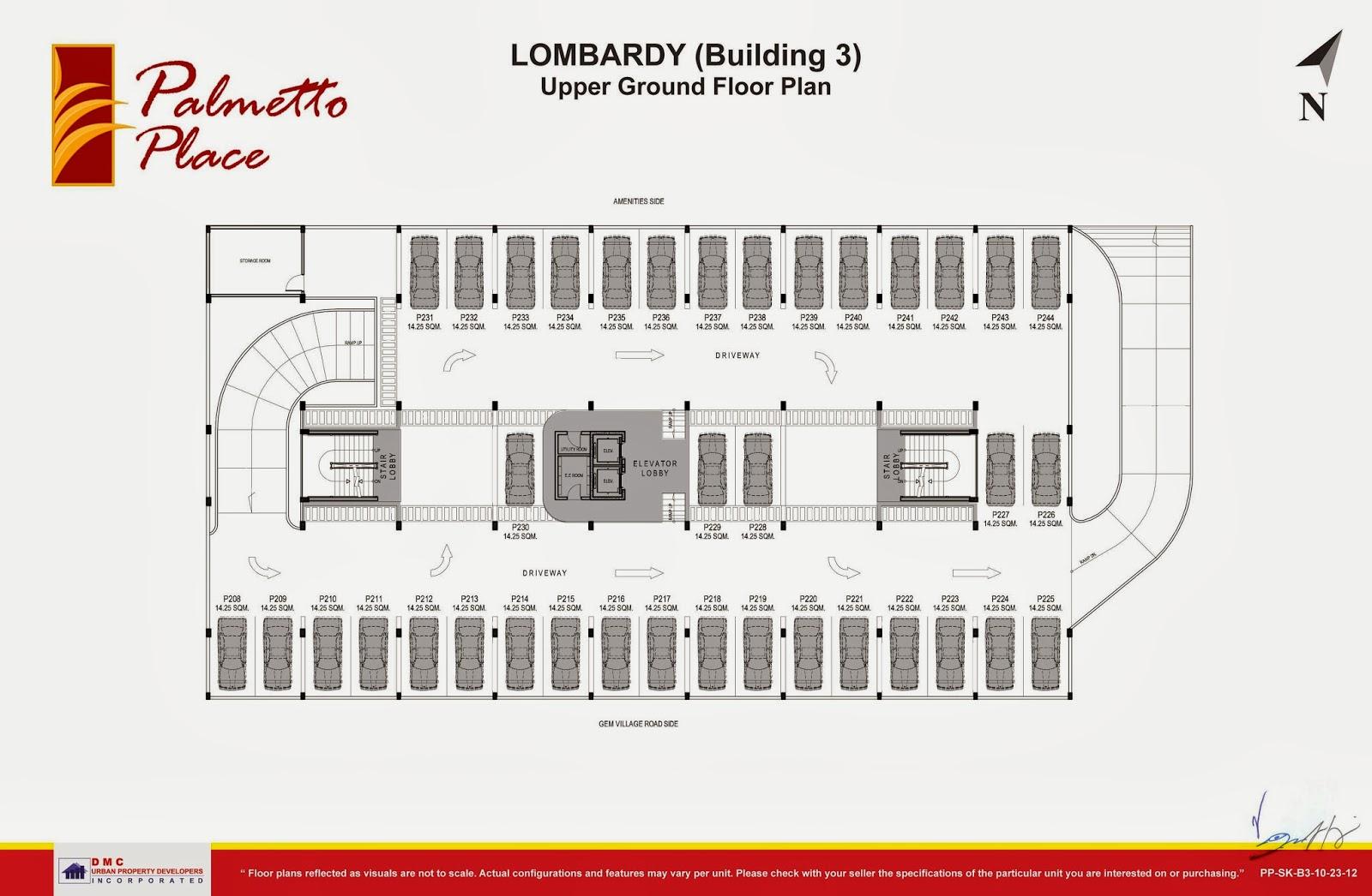 Palmetto Place Condominium, Ma-a, Davao City Upper Ground Floor Plan