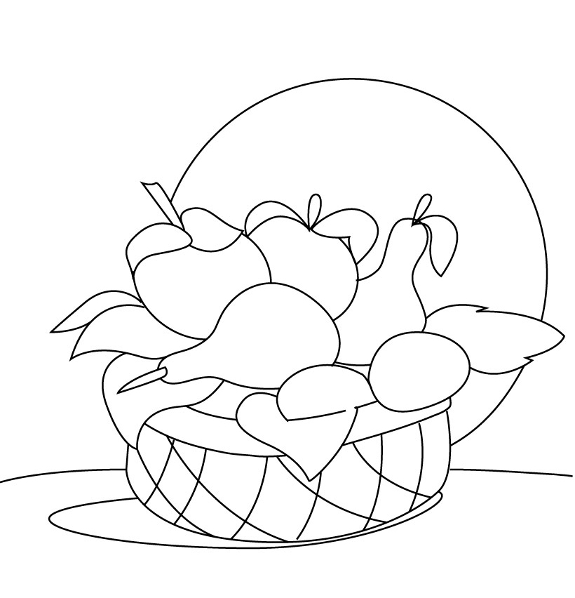 frutas coloring pages - photo#26