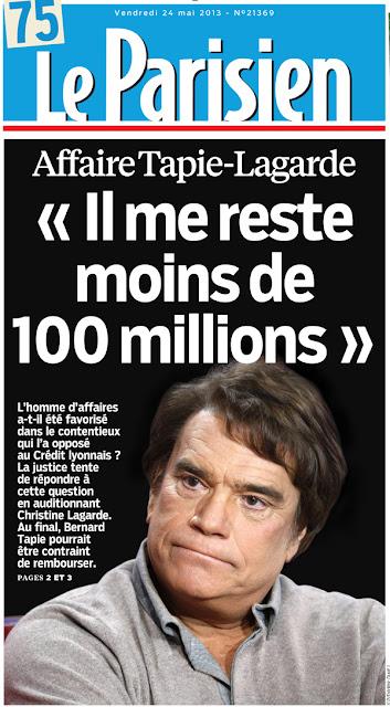 Bernard Tapie Le Parisien