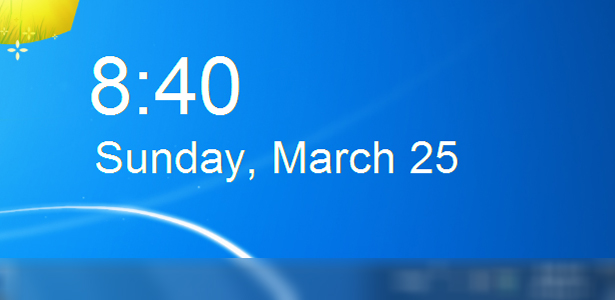 Date and time widget