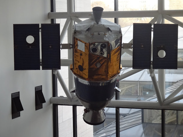 Clementine (engineering model) to collect data as it orbits the Moon during Apollo era at Space and Air Museum in Washington DC, USA