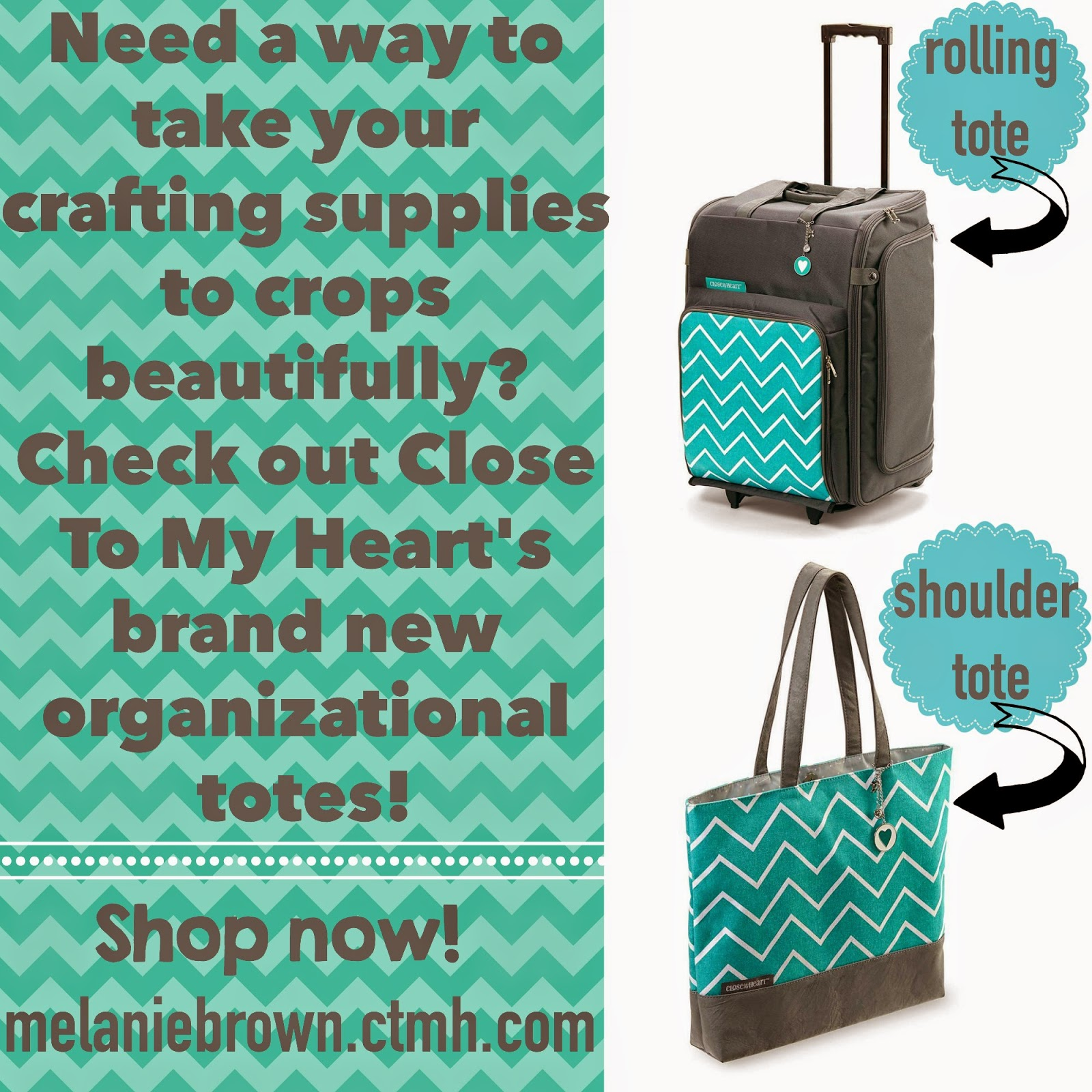 Close To My Heart NEW Rolling and Shoulder totes!
