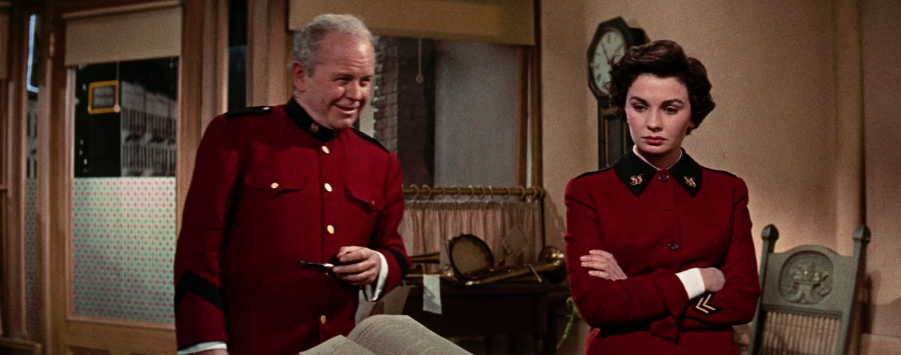 Jean Simmons and Regis Toomey Guys and Dolls 1955 movieloversreviews.blogspot.com