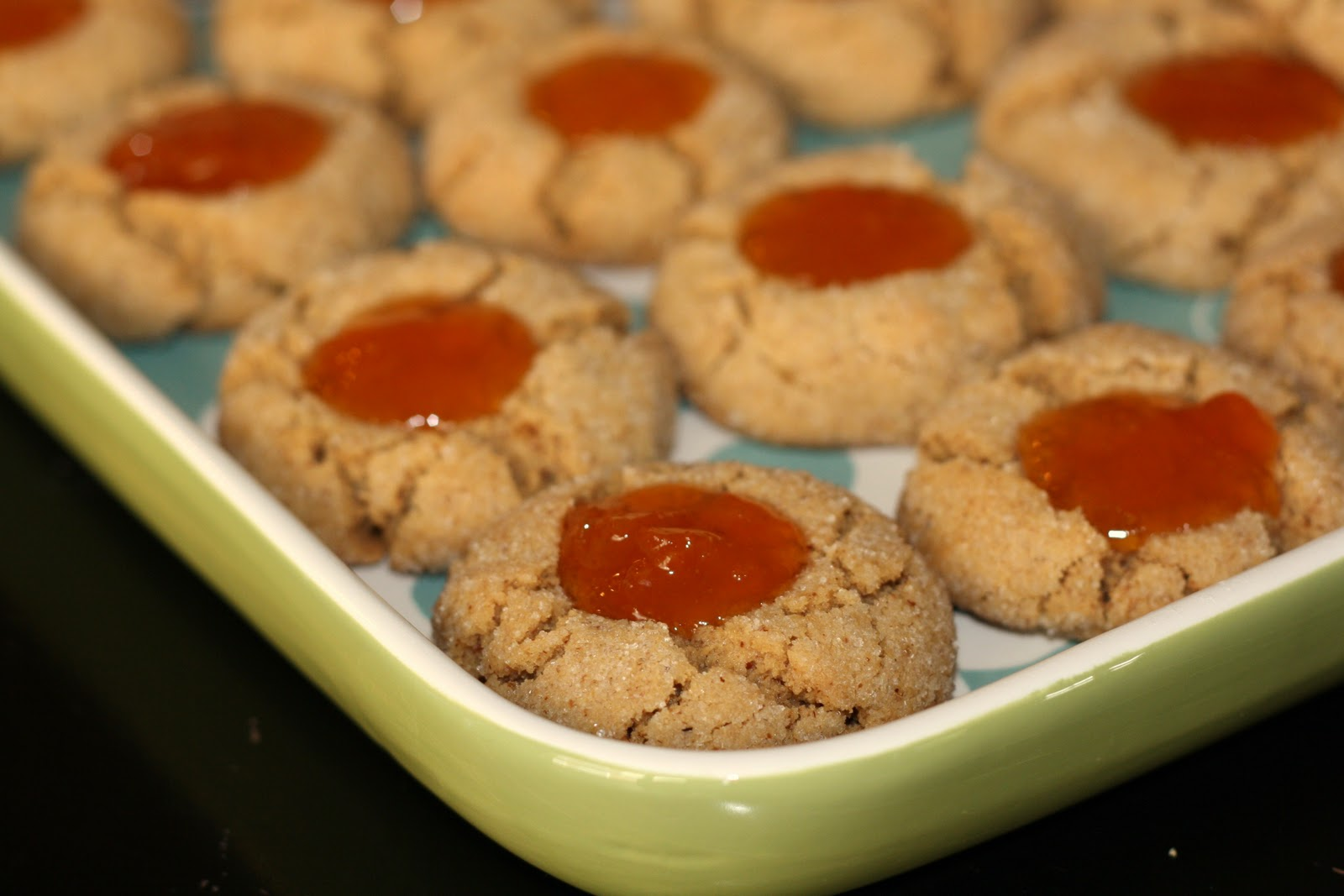 sunday sweets: almond and apricot thumbprint cookies